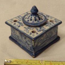 Antigüedades: TINTERO TALAVERA PPIO XX. Lote 31004987