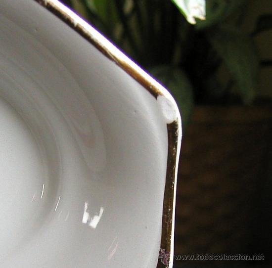 Antigüedades: Antigua fuente o bandeja porcelana ROYAL CHINA VIGO hoy Santa Clara Con sello de corona en la base - Foto 4 - 30986968