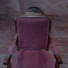 Antigüedades: SILLÓN ISABELINO DE NOGAL. S. XIX.. Lote 35240456