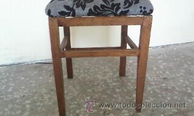 Antigüedades: Antigua silla de madera de roble con mas de 86 años, recién tapizada. - Foto 5 - 30996740