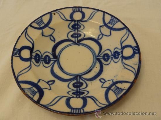 MANISES XIX PLATO (Antigüedades - Porcelanas y Cerámicas - Manises)
