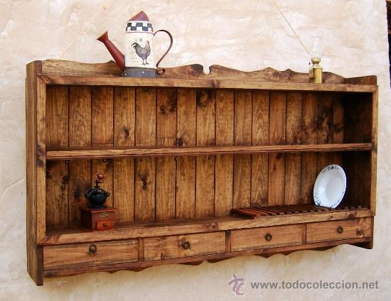 Platero de madera maciza rustico mueble de 150 comprar for Mueble platero