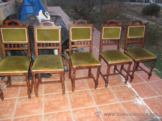 LOTE SILLAS ANTIGUAS (Antigüedades - Muebles Antiguos - Sillas Antiguas)