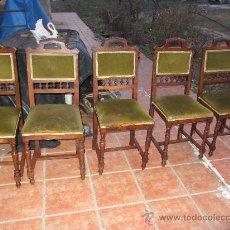 Antigüedades: LOTE SILLAS ANTIGUAS. Lote 31006441
