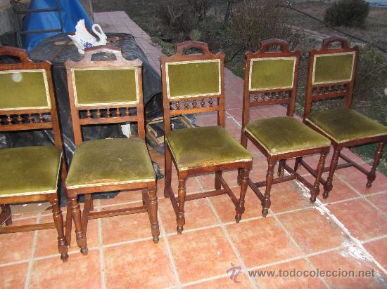 Antigüedades: LOTE SILLAS ANTIGUAS - Foto 2 - 31006441