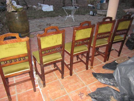 Antigüedades: LOTE SILLAS ANTIGUAS - Foto 3 - 31006441