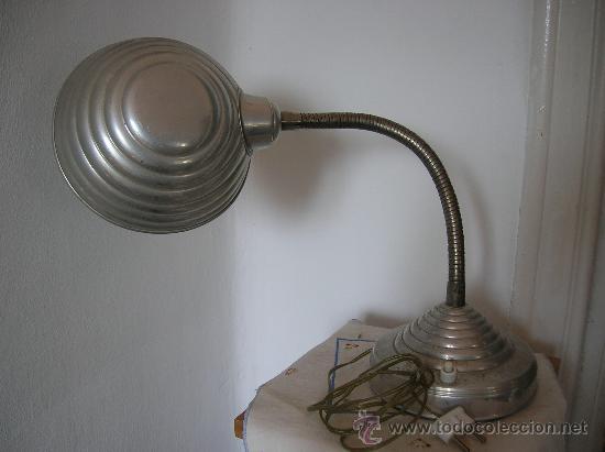 Antigüedades: FLEXO LÁMPARA DE SOBREMESA -años 50- - Foto 2 - 31010384