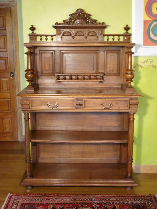 Aparador trinchero estilo renacimiento en nogal comprar - Segunda mano muebles antiguos ...