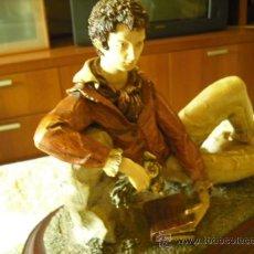 Antigüedades: FIGURA POETA ROMANTICO. Lote 31024894