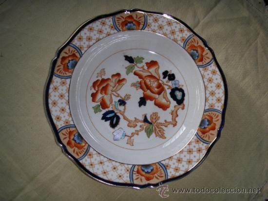 PLATO DE PORCELANA INGLESA WOOD & SONS (Antigüedades - Porcelanas y Cerámicas - Inglesa, Bristol y Otros)