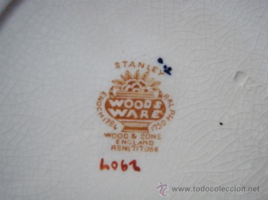 Antigüedades: PLATO DE PORCELANA INGLESA WOOD & SONS - Foto 2 - 31067257