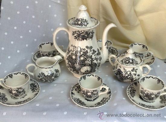 Mason 39 s antiguo juego de cafe de seis servic comprar - Porcelana inglesa antigua ...