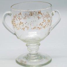 Antigüedades: COPA CRISTAL DE LA GRANJA S XIX CON DORADO. Lote 31082951