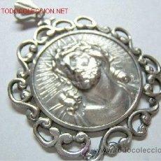 Antigüedades: ELEGANTE COLGANTE CRISTO. PLATA 900. GRANDE. Lote 31087429
