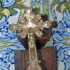Antigüedades: CRISTO CRUCIFIJO. LATÓN. C. 1900.. Lote 31111024