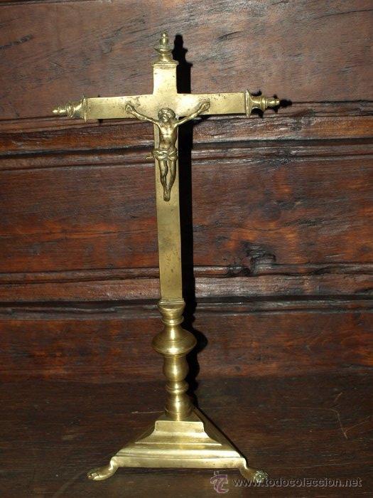 CRISTO CRUCIFIJO. BRONCE. S XVII. (Antigüedades - Religiosas - Crucifijos Antiguos)
