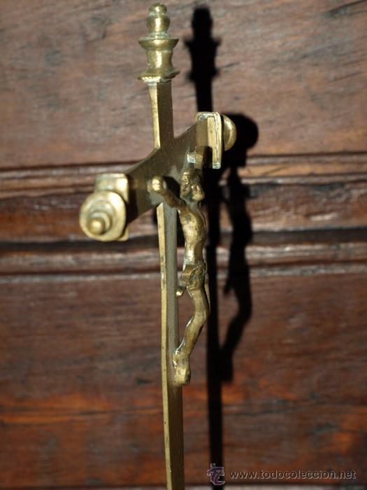 Antigüedades: Cristo crucifijo. Bronce. S xvii. - Foto 4 - 31111684