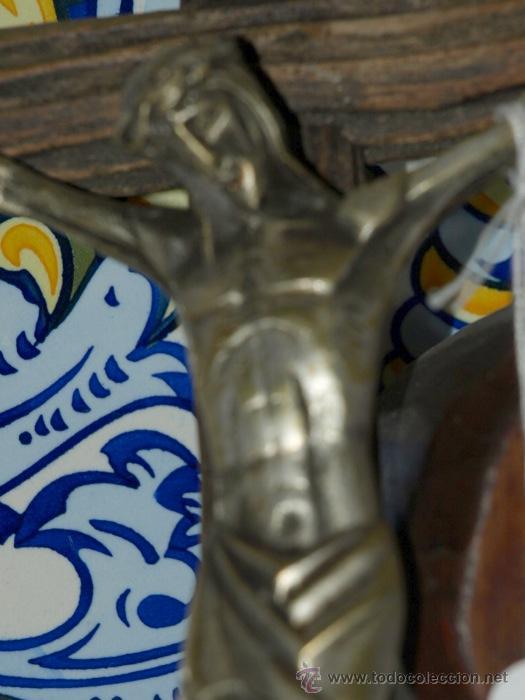 Antigüedades: Cristo Bronce. Cruz de madera. C 1940 - Foto 3 - 31111334