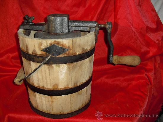 Muy antigua y bonita maquina para hacer helados comprar for Utensilios del hogar
