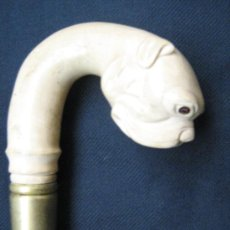 Antigüedades: BASTON CABEZA DE PERRO. Lote 31114226