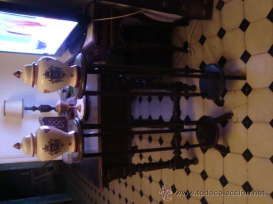 Antigüedades: antigua pareja de maceteros de madera 100 cm - Foto 5 - 31114551