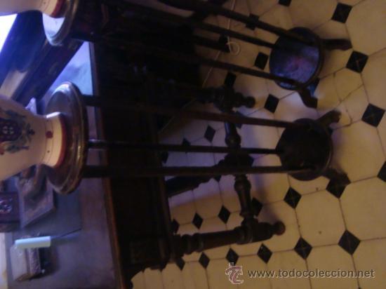 Antigüedades: antigua pareja de maceteros de madera 100 cm - Foto 4 - 31114551