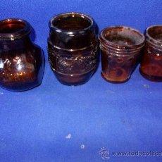 Antigüedades: PORTA VELAS DE CRISTAL-4. Lote 31117133