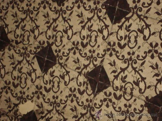 Antigüedades: preciosa mantilla española negra tul bordado, 252 x 78 para restaurar, circulo duquesa alba - Foto 13 - 31120835