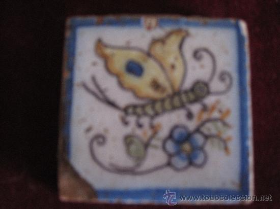 AZULEJO PINTADO ( OLAMBRILLA ),TECNICA LISA. TALAVERA - PROBABLEMENTE CERAMICA RUIZ DE LUNA. (Antigüedades - Porcelanas y Cerámicas - Talavera)