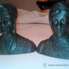 Antigüedades: SUJETALIBROS DANTE Y BEATRIZ . Lote 31137105