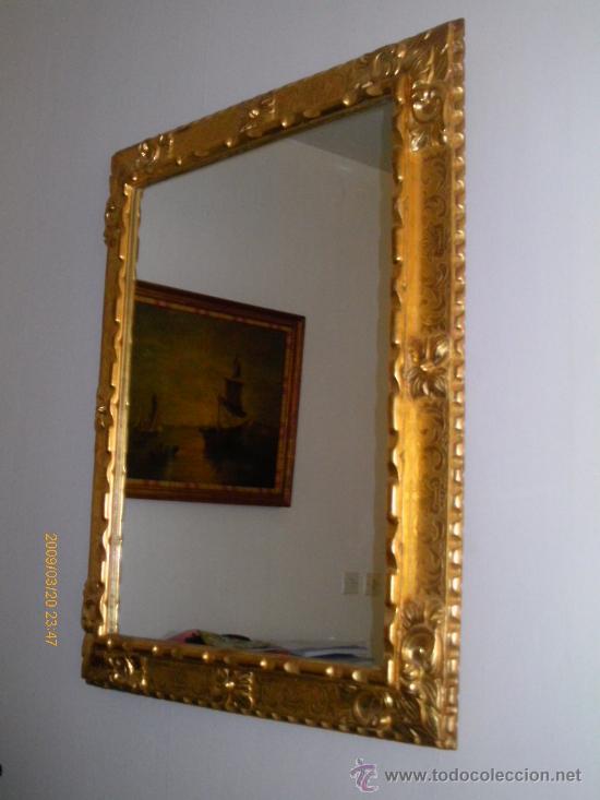 espejo marco barroco español tallado y dorado - Comprar Espejos ...