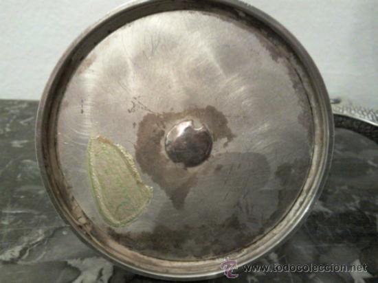 Antigüedades: Antigua pareja de portavelas en plata con marca - Foto 7 - 31143099