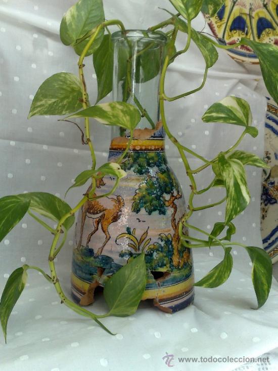 Antigüedades: SIGLO XIX- XX .- ANTIGUA JARRA EN CERÁMICA DE TALAVERA. - Foto 2 - 31163070