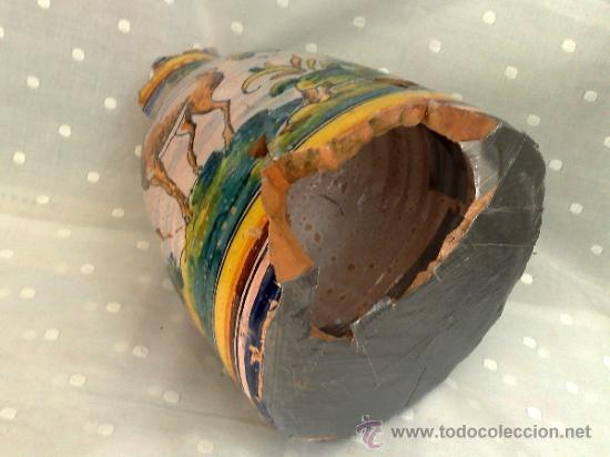 Antigüedades: SIGLO XIX- XX .- ANTIGUA JARRA EN CERÁMICA DE TALAVERA. - Foto 6 - 31163070