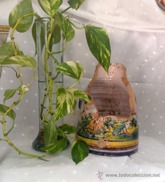 Antigüedades: SIGLO XIX- XX .- ANTIGUA JARRA EN CERÁMICA DE TALAVERA. - Foto 9 - 31163070