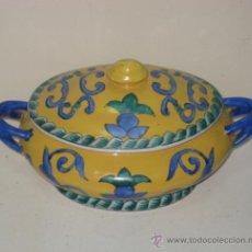 Antigüedades: SOPERA O BOMBONERA. ESTILO SEVILLANO. POSIBLE ALFARERIA DE TRIANA.. Lote 38593653