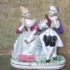 Antiques - Preciosa figura de una pareja de época en porcelana fina. - 31153240