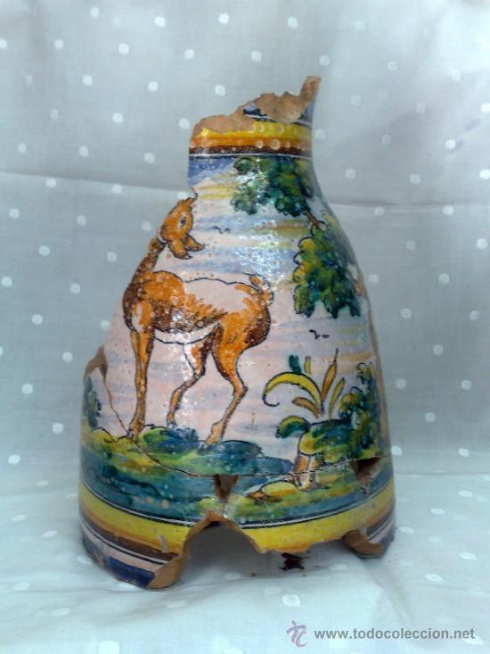 SIGLO XIX- XX .- ANTIGUA JARRA EN CERÁMICA DE TALAVERA. (Antigüedades - Porcelanas y Cerámicas - Talavera)