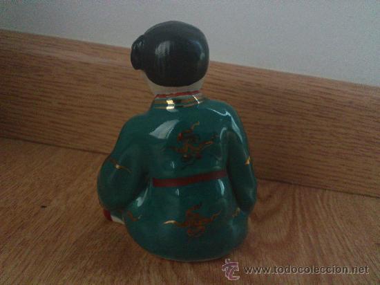 Antigüedades: Magnifica obra de arte japones, antigua figura japonesa pintada a mano y sellada, estilo Kutani - Foto 3 - 31163135