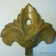 Antigüedades: COPETE ANTIGUO DE MADERA TALLADA Y DORADA. Lote 31167624