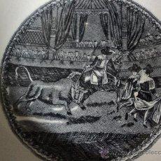 Antigüedades: HIJOS DE MARIANO POLA. SIGLO XIX. PLATO HONDO. RARO.. Lote 31178496