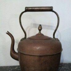 Antigüedades: ANTIGUA TETERA O CAFETERA DE COBRE. Lote 31182891