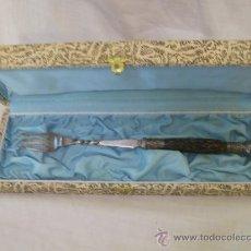 Antigüedades: TENEDOR PINCHO. DE PLATA. . Lote 31184710