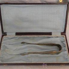 Antigüedades: PINZAS PARA CUBITOS. DE PLATA. . Lote 31185269