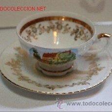 Antigüedades: TAZA DE PORCELANA CON SELLO EN BASE PMK BABARIA. Lote 31190382