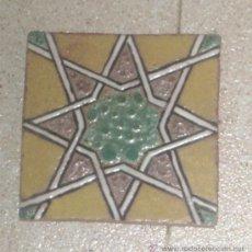 Antigüedades: AZULEJO DE CUERDA SECA. DE TRIANA.. Lote 31222456