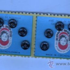 Antiguidades: LOTE DE DOS CARTONES COMPLETOS DE CLIPS . Lote 31223253