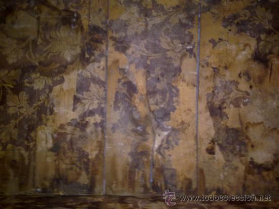Antigüedades: antiguo baul de madera, forrado de una especie de polipiel - Foto 11 - 31245914