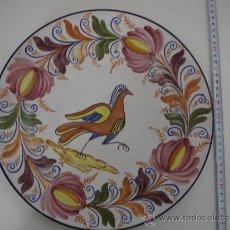 Antigüedades: PLATO DE CERÁMICA PINTADA A MANO. MARTINEZ. . Lote 31246017