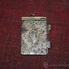 Antigüedades: BONITA FUNDA PARA AGENDA DE BOLSILLO - BAÑO DE PLATA - PRINCIPIOS DEL S.XX. Lote 31629902
